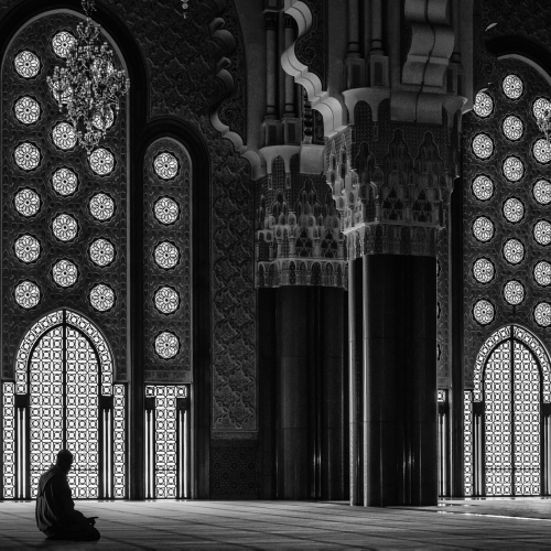 2nd Merit Architecture Pat Zuest  At Prayer In The Casablanca Mosque