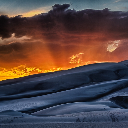 BRONZE Lance Gitter - Sunset At Great Sand Dunes NP