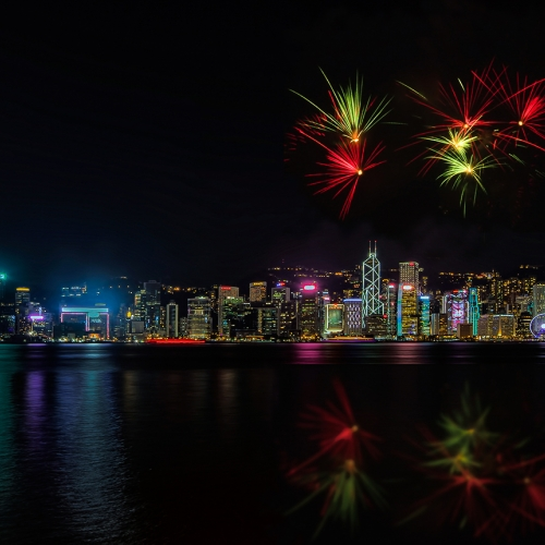 Honour Award The Chinese Canadian Photo Society Of Toronto  Percy Lo 3 Nocturnal View Of Hong Kong Victoria Harbour