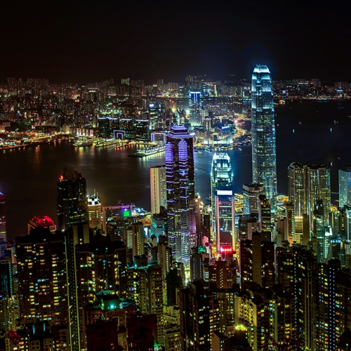 Honour Award The Chinese Canadian Photographic Society Of Toronto Percy Lo 4 Nocturnal View Of Hong Kong Victoria Harbour