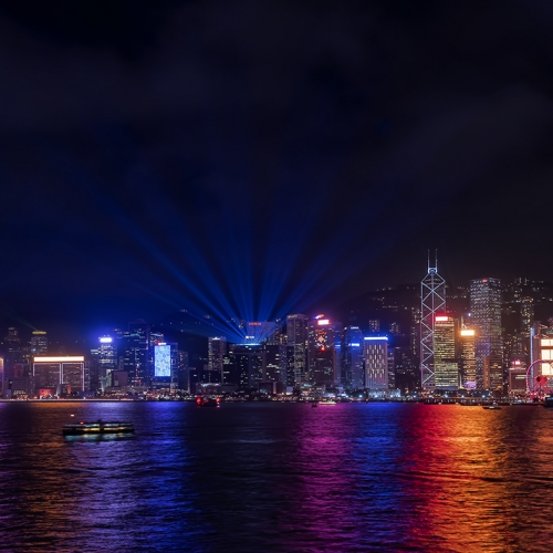 Honour Award The Chinese Canadian Photographic Society Of Toronto Peter Lau 2 Nocturnal View Of Hong Kong Victoria Harbour