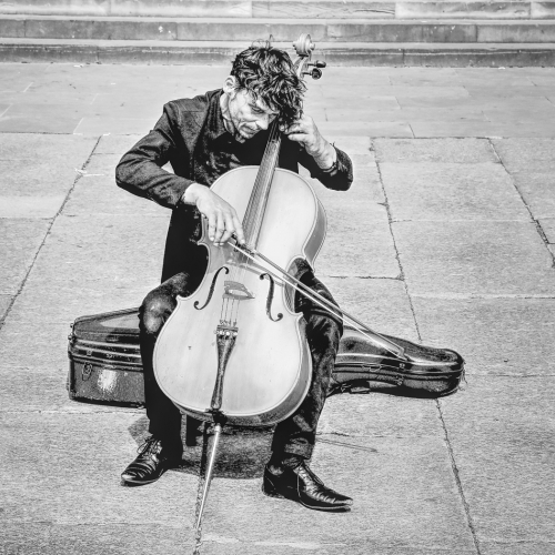 Honour - Fortunato Rizza - A Street Musician Playing The Cello