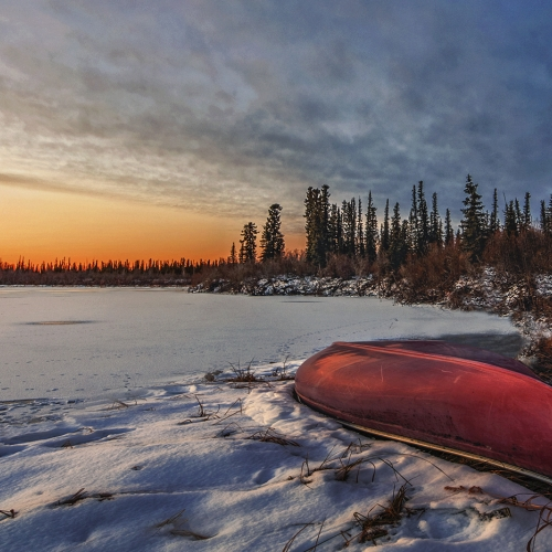 Honour - TCCPSOT - Kai Sun Law - Snow Covered Lake In Inuvik