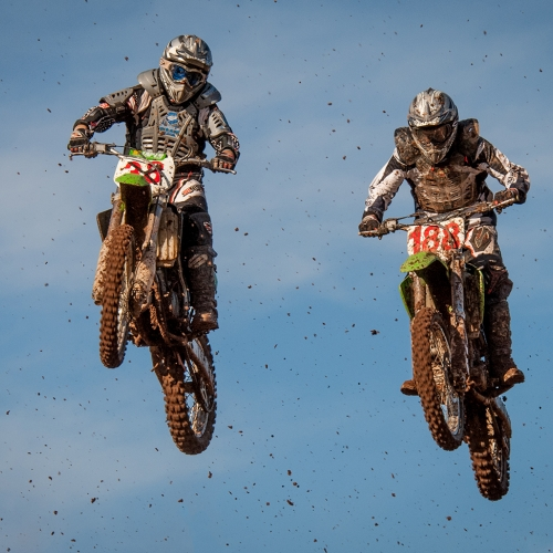 Silver Medal - Fred Greene - MotoCross In Mud