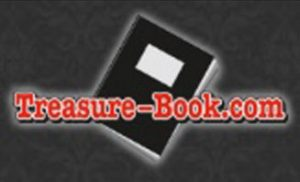 Treasure Books log - 198 pixels high