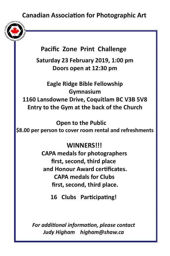 Pacific Zone Print Challenge