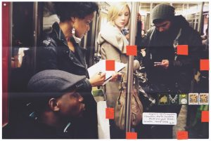 Moyra Davey, Detail from Subway Writers, 2011/2014.